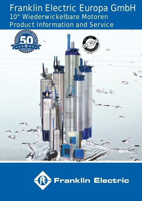 """10"""" Wiederwickelbarer Motor - Franklin Electric Europa"""