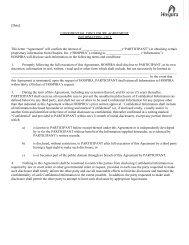 [Date] CONFIDENTIAL DISCLOSURE AGREEMENT ... - Hospira