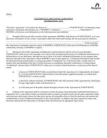 Confidential Disclosure Agreement  Translational Genomics