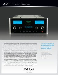MA6600 INTEGRATED AMPLIfiER - TransTec
