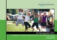 Ferienprogramm 2012 - Friedrichshafen