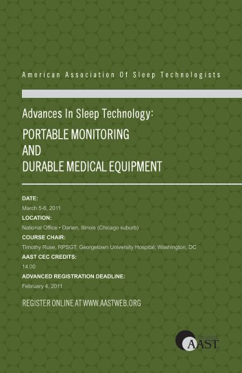 download the brochure - American Association of Sleep Technologists