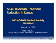 A Call to Action - Nutrient Reduction in Kansas