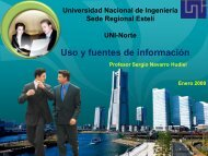 Uso y fuentes de información - Ing. Sergio Navarro Hudiel