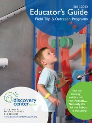 Educator's Guide - Discovery Center Museum