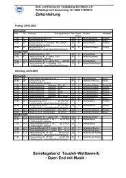 Zeiteinteilung Ringmeisterschaften Springen und Dressur in HD ...