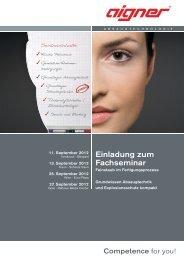 Detailinfos herunterladen - Aigner GmbH