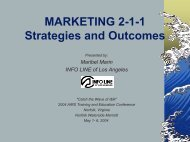 Marketing 2-1-1 - California Alliance of Information & Referral Services