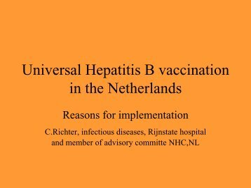Universal Hepatitis B vaccination in the Netherlands - Viral Hepatitis ...