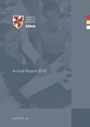 Annual Report 2010 - Chartered Institute of Arbitrators
