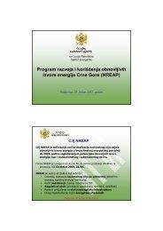 Program razvoja i korišćenja obnovljivih izvora energije u Crnoj Gori