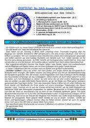 SPORTECHO Nr.283,Ausgabe 09/2008 - Tus Medebach 1919 e.V.