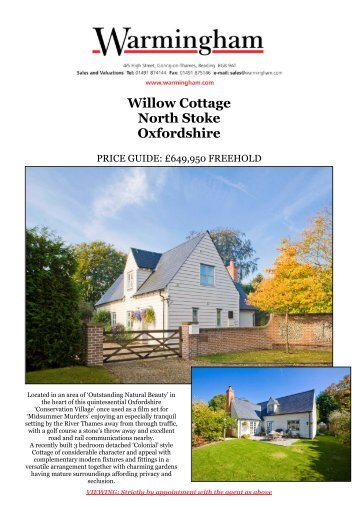 Willow Cottage North Stoke Oxfordshire - Warmingham