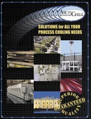 SOLUTIONS for ALL YOUR PROCESS COOLING NEEDS - ArctiChill