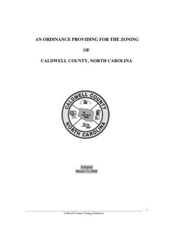 Zoning Ordinance - Caldwell County Government