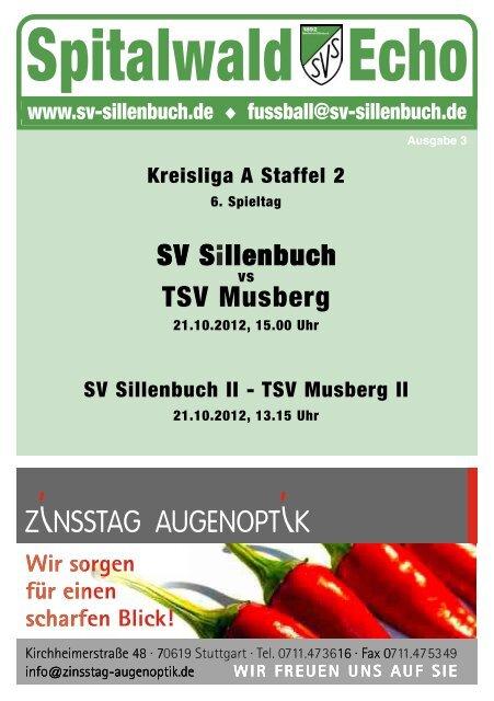 Spitalwald Echo Nr. 3 - Fußball beim SV Sillenbuch