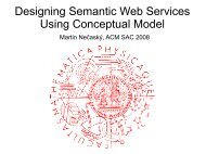 Designing Semantic Web Services Using Conceptual ... - KSI MFF UK