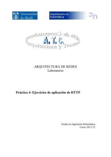 ARQUITECTURA DE REDES Laboratorio Práctica 4: Ejercicios de ...