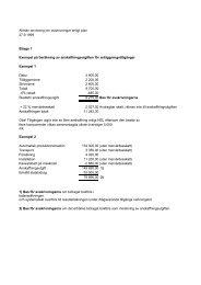 Allmän anvisning om avskrivningar enligt plan, bilagor