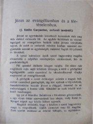 Jézus az evangéliumban és a történelemben