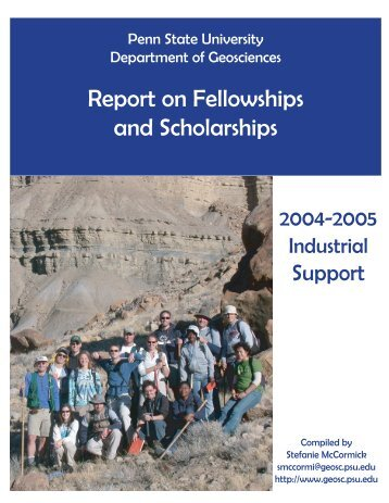 Report on Fellowships and Scholarships - Penn State University