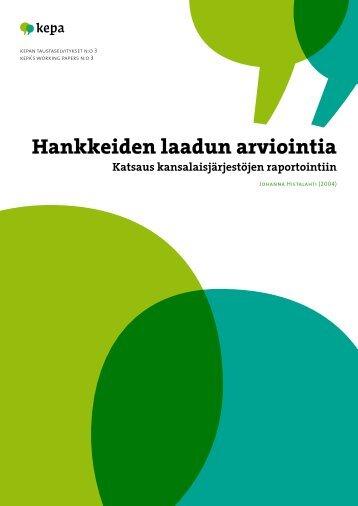 Hankkeiden laadun arviointia - Kepa.fi