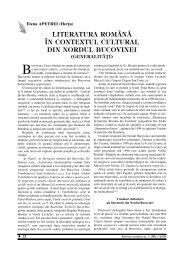 literatura română în contextul cultural din nordul bucovinei