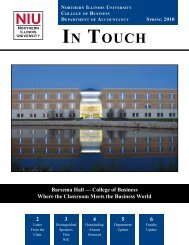 IN TOUCH - NIU College of Business - Northern Illinois University
