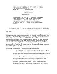 1 ORDINANCE OF THE COUNCIL OF THE CITY OF FRESNO ...
