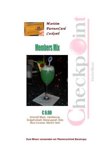 Maritim PartnerCard PartnerCard Cocktail - Friedrichstrasse.de