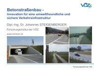 Betonstraßen - Lösungen für eine umweltfreundliche und sichere ...