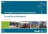 Yeerongpilly Transit Oriented Development - Concept Plan of ...