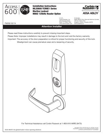 instructions for access 600 rne1 prox mortise locks?quality=85 instructions for access 600 rne1 iclass cylindrical lock corbin russwin access 600 wiring diagram at panicattacktreatment.co