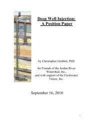 Deep Well Injection Position Paper - Friends of the Jordan River
