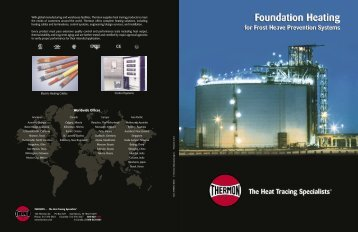 Foundation Heating Brochure - Thermon Manufacturing Company