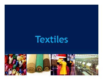 Textiles - West Bengal Industrial Development Corporation