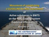 1. Movement of establishing a Guideline for risk assessment of ...