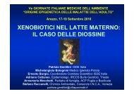 xenobiotici nel latte materno: il caso delle diossine - Mamme per la ...
