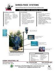Shred-Feed Systems - Komar Industries