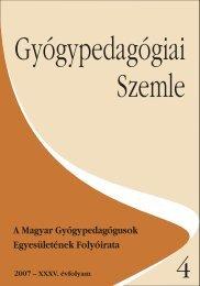 Gyógypedagógiai Szemle - Prae