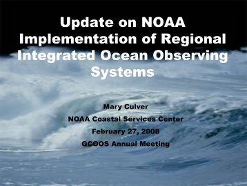 Update - Gulf of Mexico Coastal Ocean Observing System