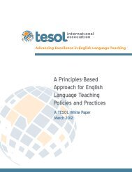 A Principles-Based Approach for English Language Teaching - TESOL