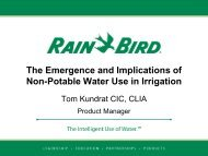 The Emergence and Implications of Non-Potable Water Use in ...