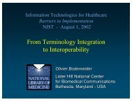 From Terminology Integration to Interoperability - Medical Ontology ...