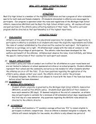 2011-2012 Athletic Policy - Beal City Schools