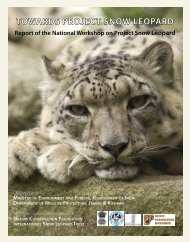 towards project snow leopard - Nature Conservation Foundation