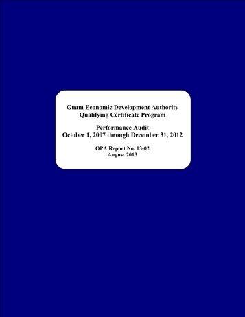Guam Economic Development Authority - The Office of Public ...