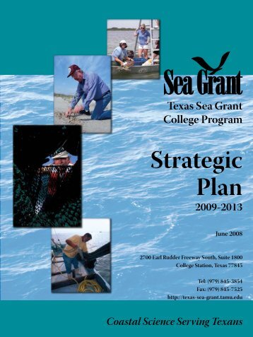 Strategic Plan - Texas Sea Grant Program - Texas A&M University