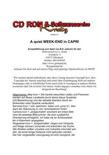 A quiet WEEK-END in CAPRI - Gamepad.de