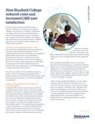 How Bluefield College reduced costs and increased LMS ... - Jenzabar